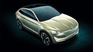 Skoda представила электрический купе-кроссовер с запасом хода 500 км