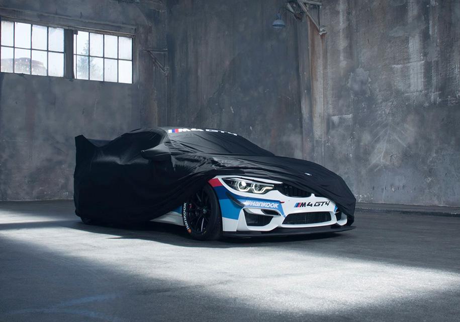 БМВ опубликовало тизер нового гоночного купе M4 GT4