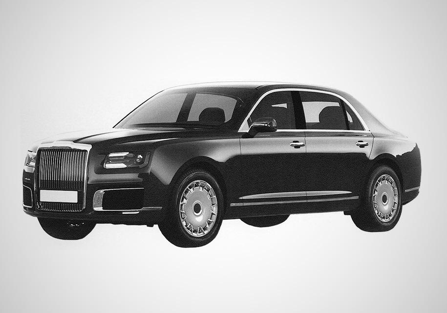 Каким будет новый российский лимузин Aurus. Патентные фото