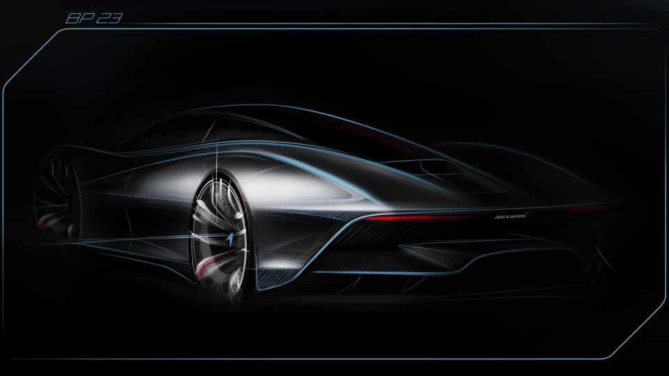 Опубликованный ранее тизер McLaren BP23