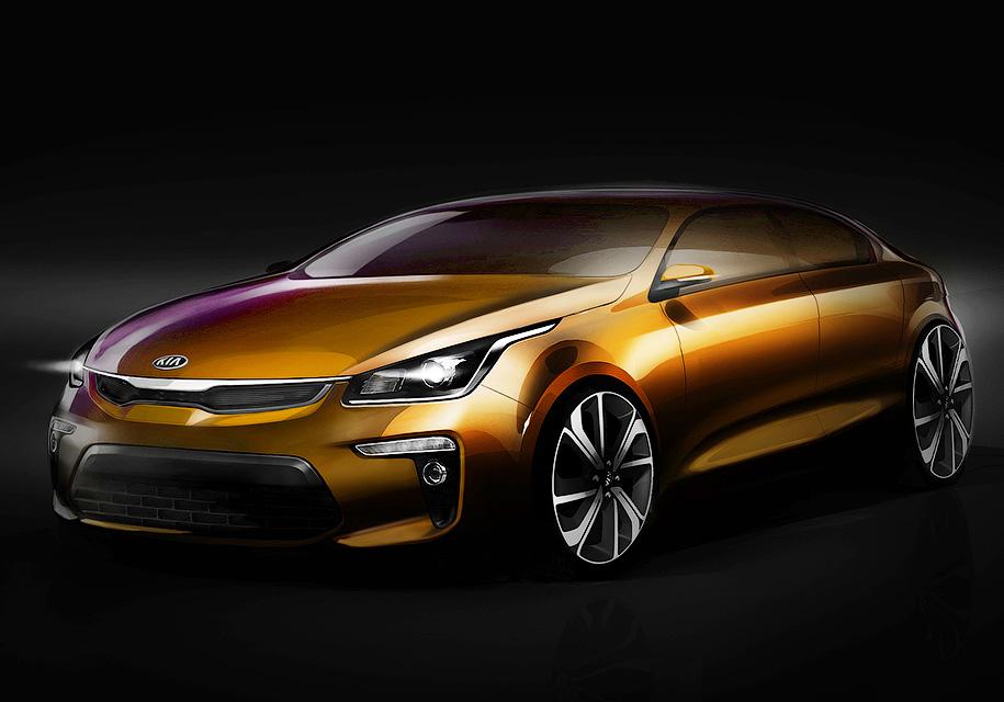 Стало известно, каким будет седан Kia Rio нового поколения
