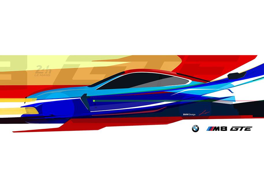 БМВ обнародовала тизер гоночного купе M8 GTE
