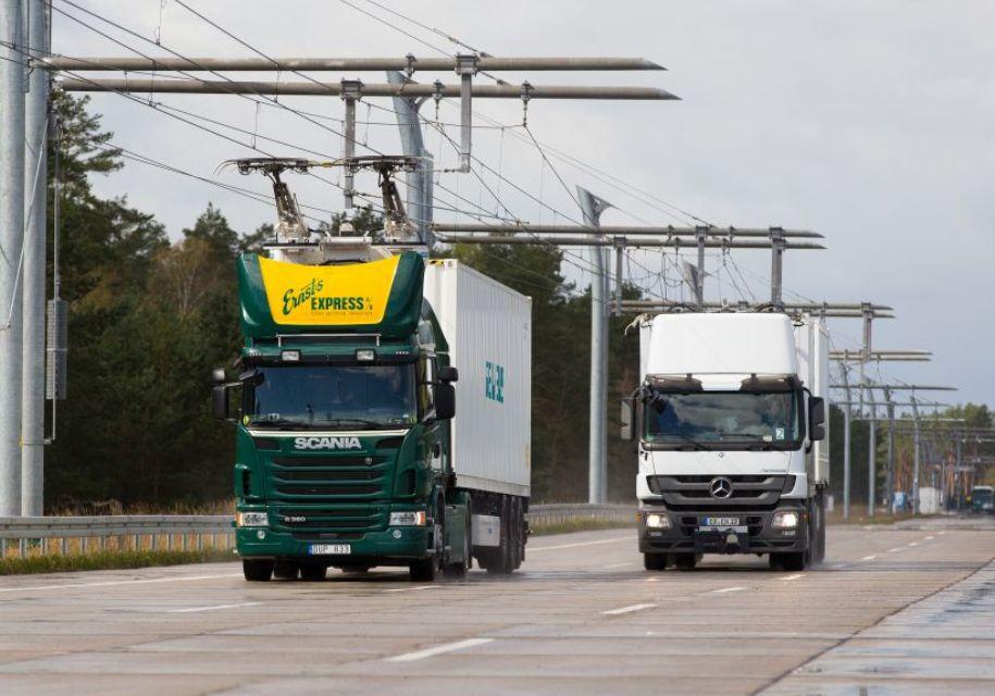В Германии появится электрифицированная дорога для грузовиков - электромоб