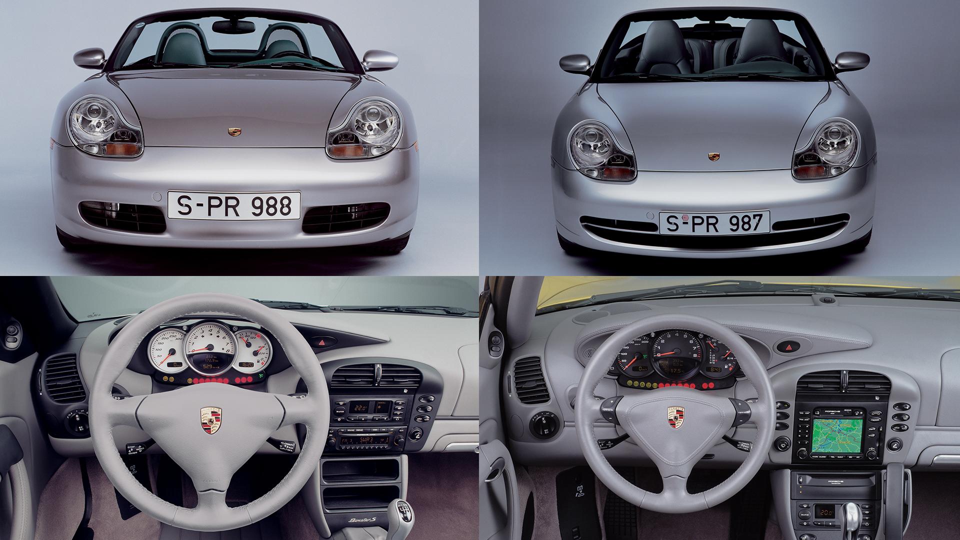 Из-за дефицита у компании свободных средств Boxster (слева) и 911 (справа) в конце девяностых были унифицированы настолько, насколько это вообще возможно для среднемоторной и заднемоторной машины