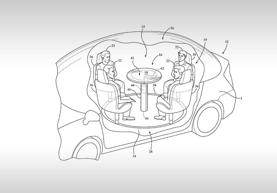 Ford придумал подушки безопасности для авто с откидными столами