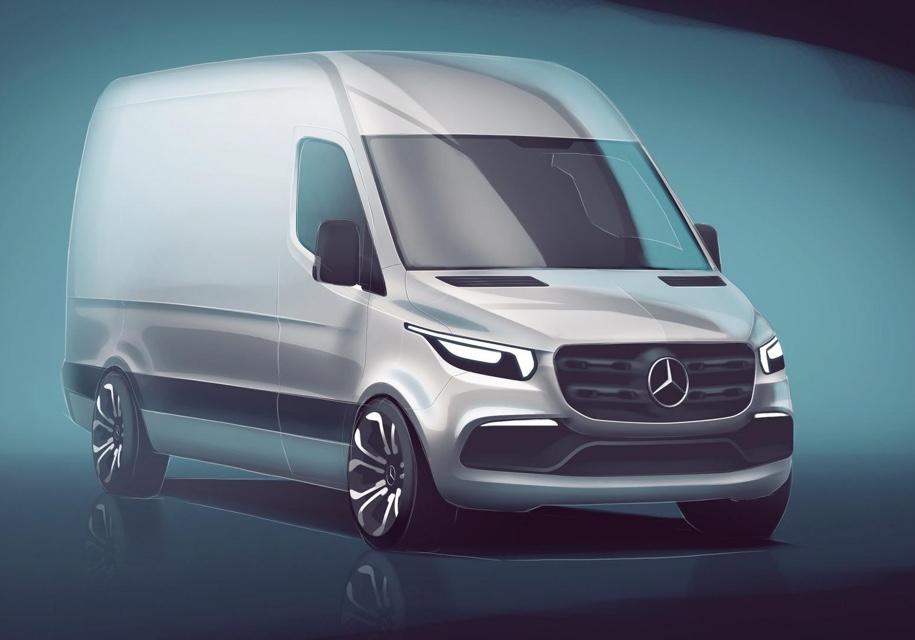 Mercedes-Benz показал каким будет новый Sprinter уже в 2018 году