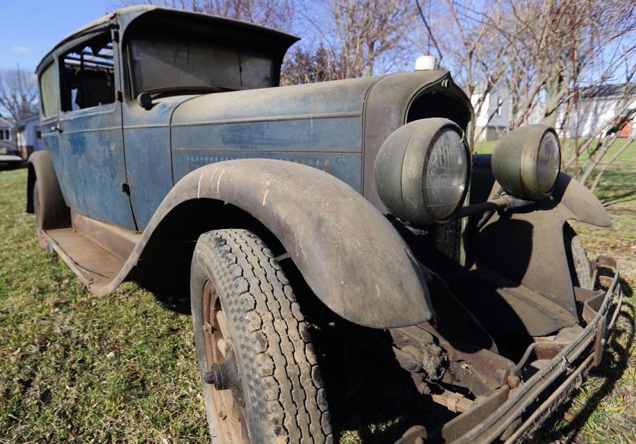 ВСША найден 90-летний автомобиль, простоявший вгараже 50 лет