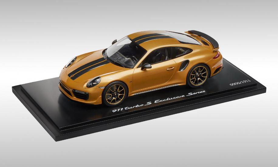 Лицензированная Porsche масштабная копия 911 Turbo S Exclusive Series выпущена в количестве 1911 экземпляров. Цена каждого — 449 долларов.