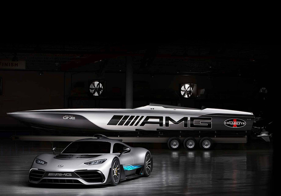 AMG построил суперкатер встиле гиперкара Project One