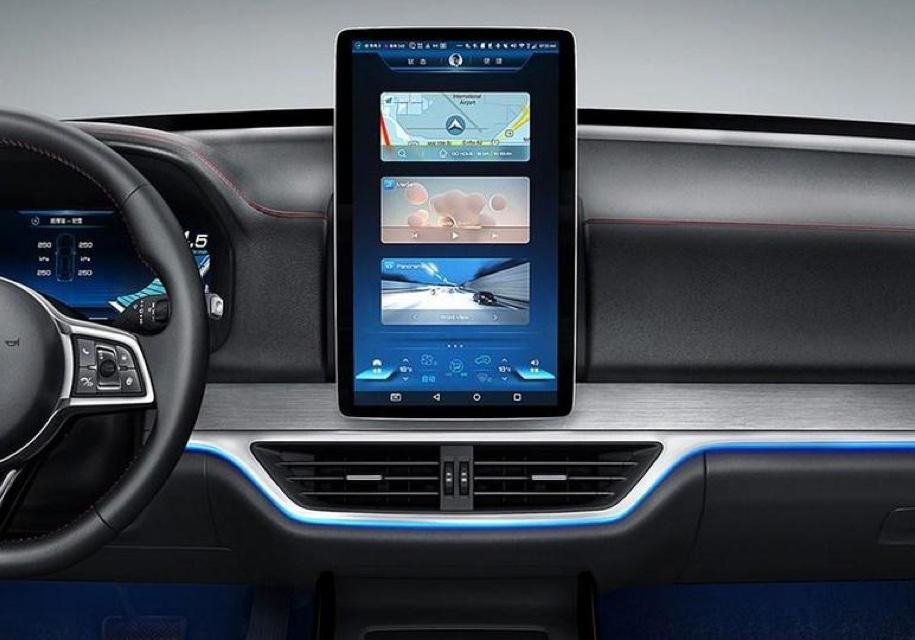 Новый кроссовер BYD получил немалый поворотный экран