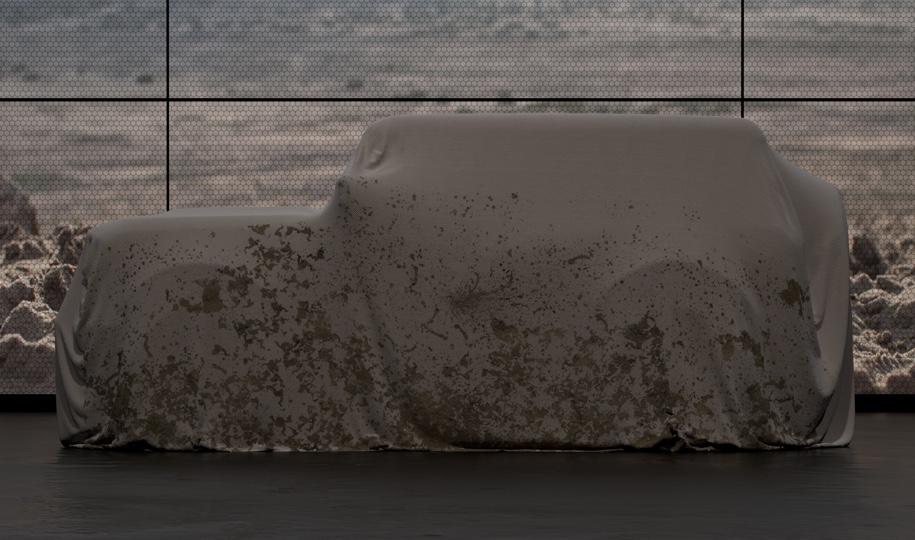 Новый Ford Bronco пока скрыт под покрывалом. По предварительной информации, публичный дебют новинки состоится в следующем году.