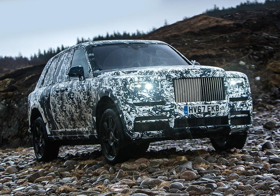 Тесты первого вседорожника Rolls-Royce покажут всоцсетях