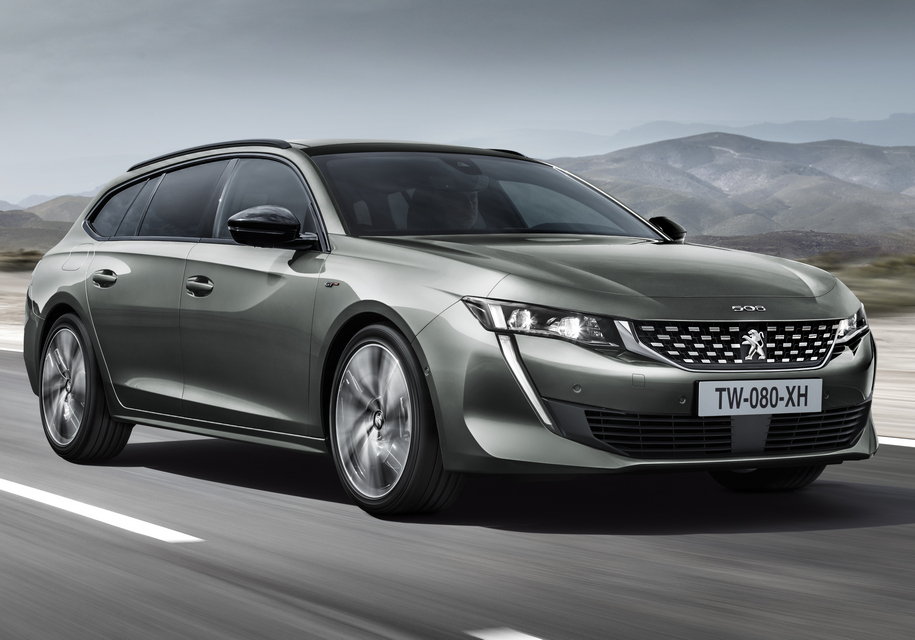 Peugeot (Пежо) 508 обновленного поколения превратили вуниверсал