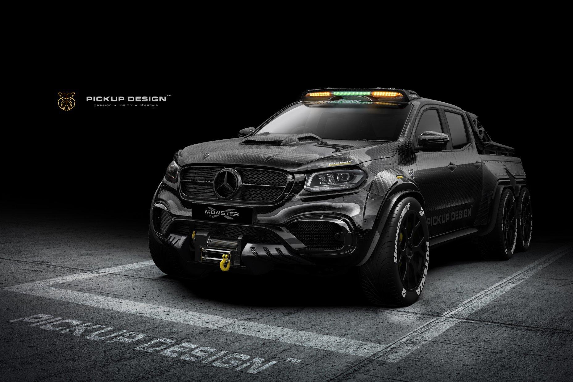 Ателье Carlex придумало трехосный Mercedes-Benz X-Class для трека