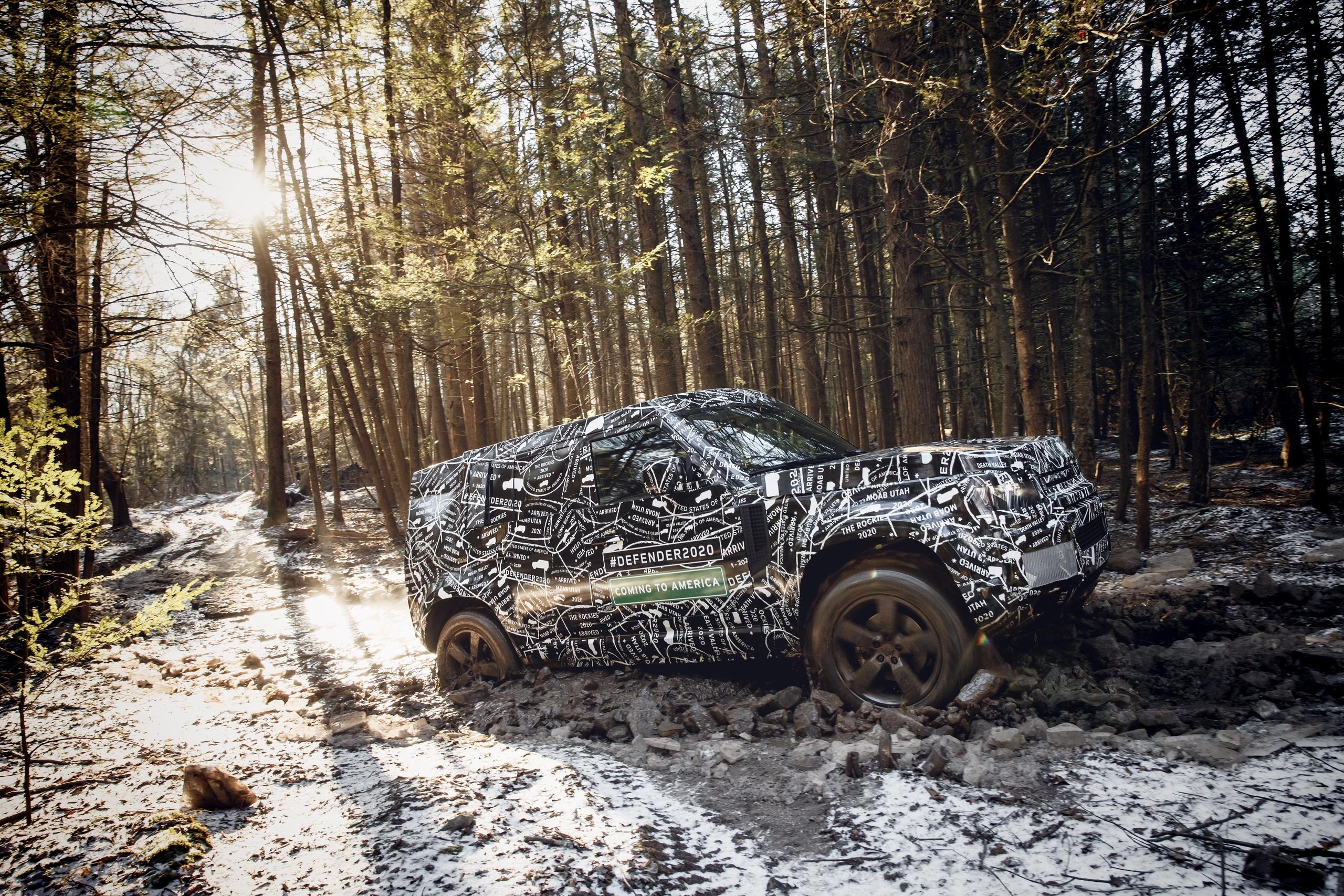 Land Rover рассказал о внедорожных испытаниях нового Defender