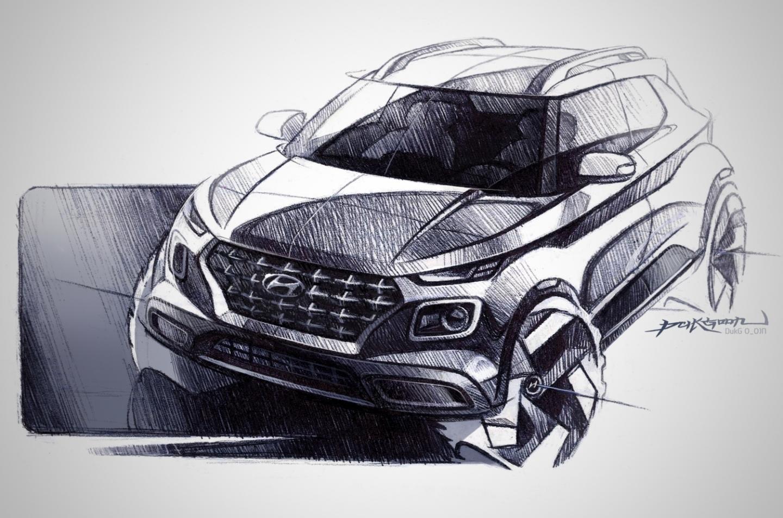 Раскрыта внешность и интерьер самого маленького кроссовера Hyundai