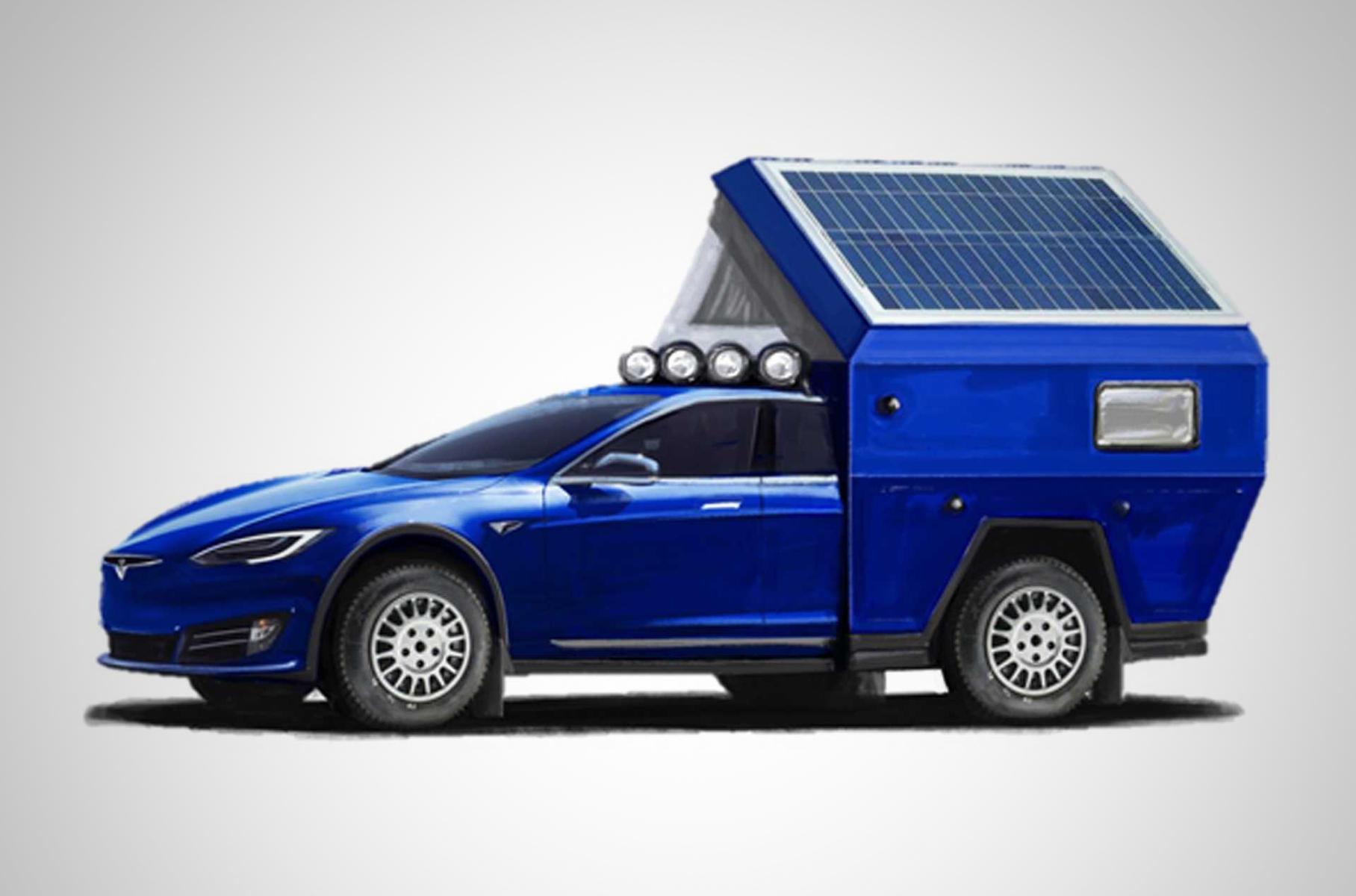 Tesla Model S превратили в очень быстрый дом на колесах