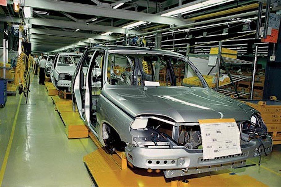 Сборка шевроле нива на конвейере транспортер к польской копалке