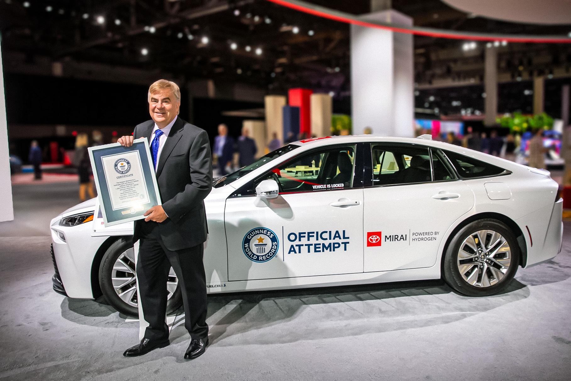 Водородный Toyota Mirai установил новый рекорд по дальности хода