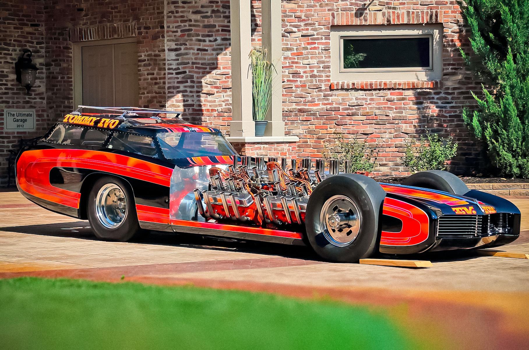 Посмотрите на уникальный одноместный хот-род Buick, у которого четыре мотора V8
