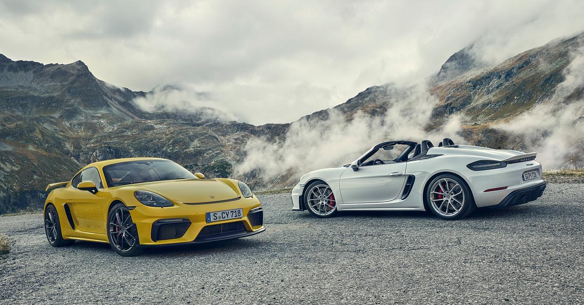 Porsche представила новые 718 Boxster Spyder и 718 Cayman GT4 2020
