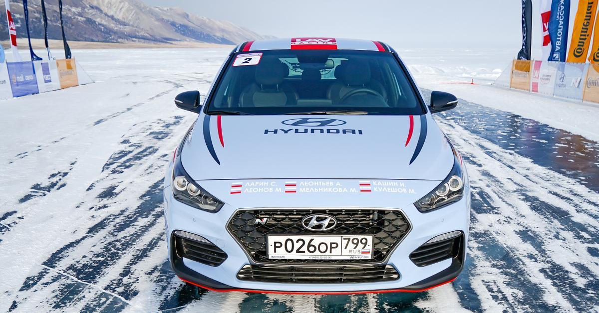 Хот-хэтч Hyundai установил рекорд скорости на льду Байкала