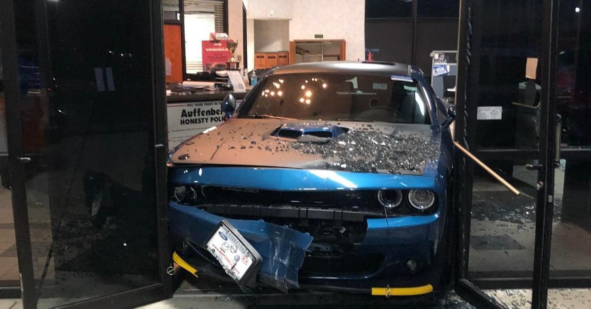 Неудачная попытка угона Dodge Challenger