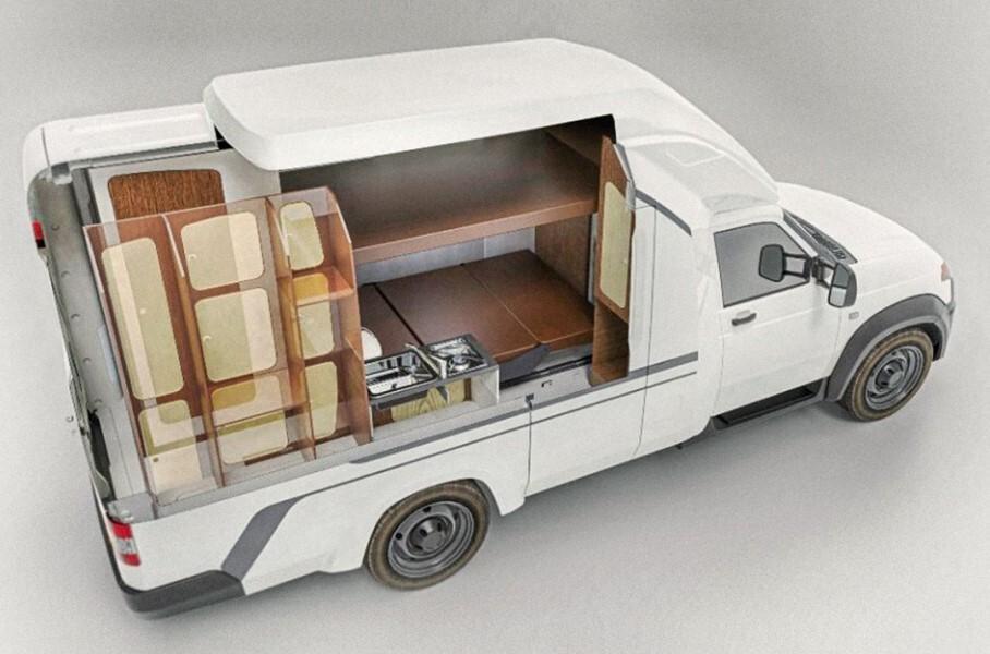 УАЗ показал, что внутри у нового кемпера на базе «Профи»