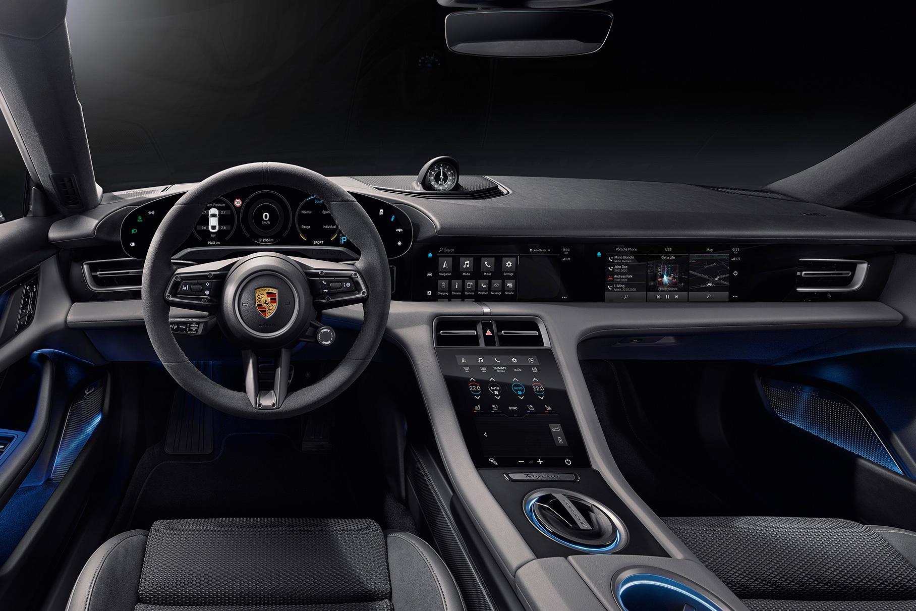 Картинки по запросу Porsche Taycan салон