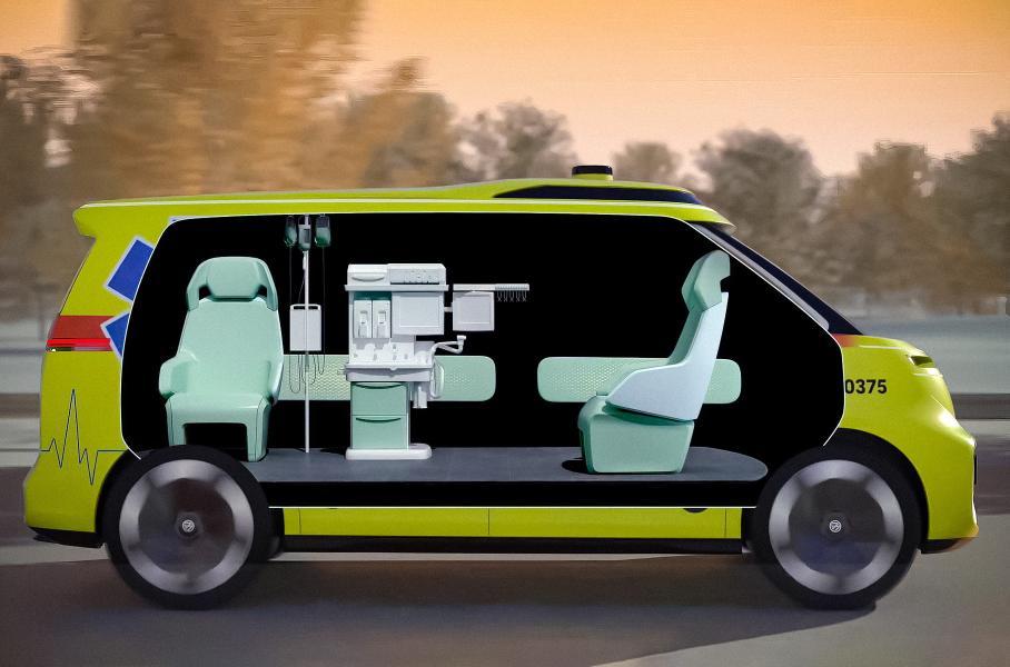 Видео: Volkswagen хочет превратить ID.Buzz в «скорую» без водителя