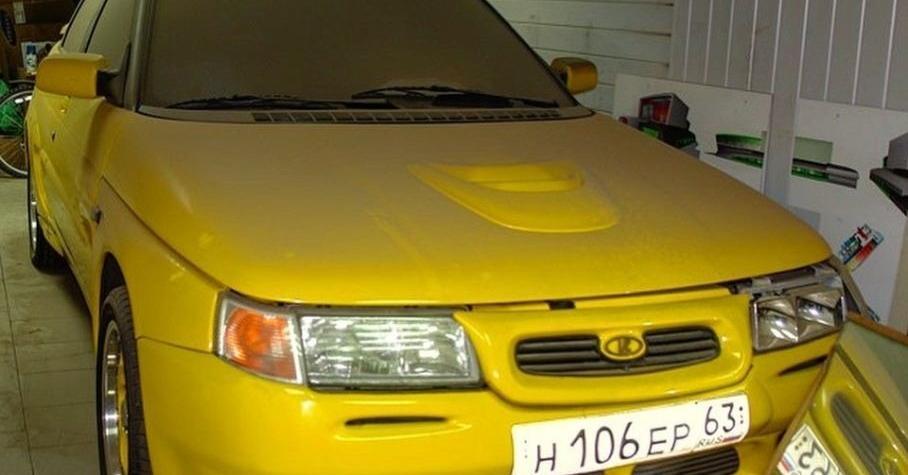 Посмотрите на уникальный спортивный прототип ВАЗ-21106 «Жёлтая акула»